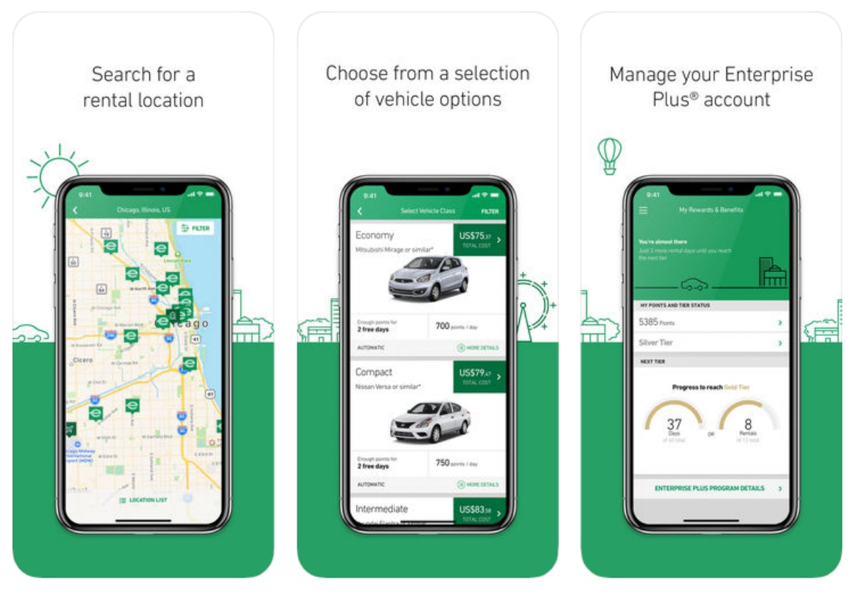 Enterprise Rent-a-Car app review