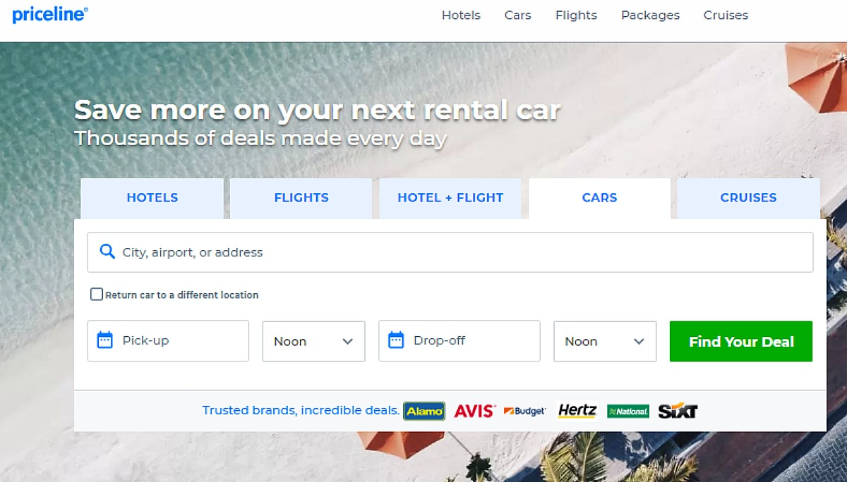 Priceline car rentals