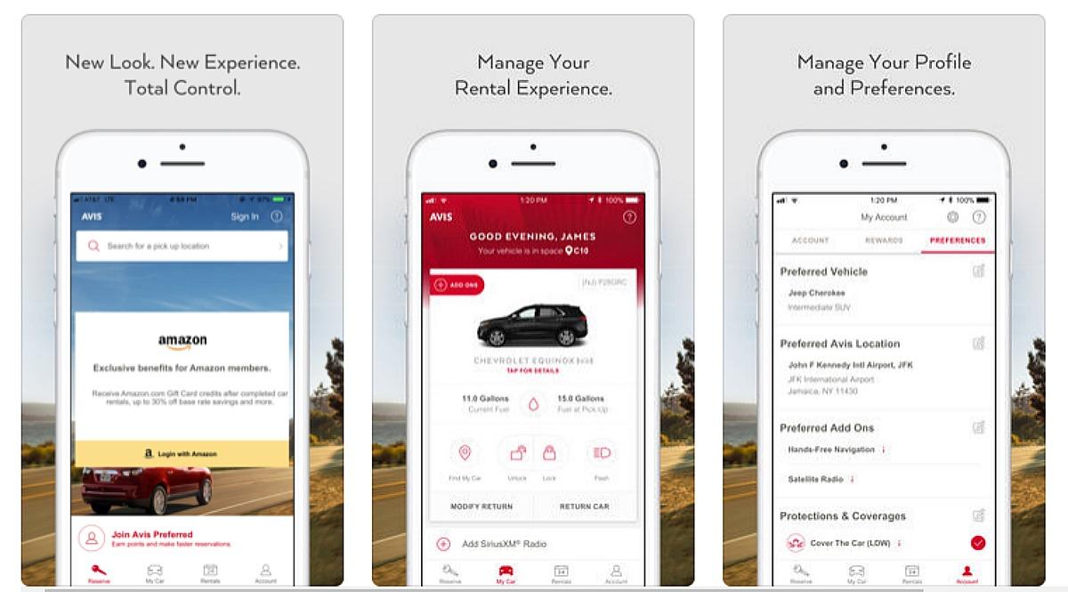 Avis Rent a Car app