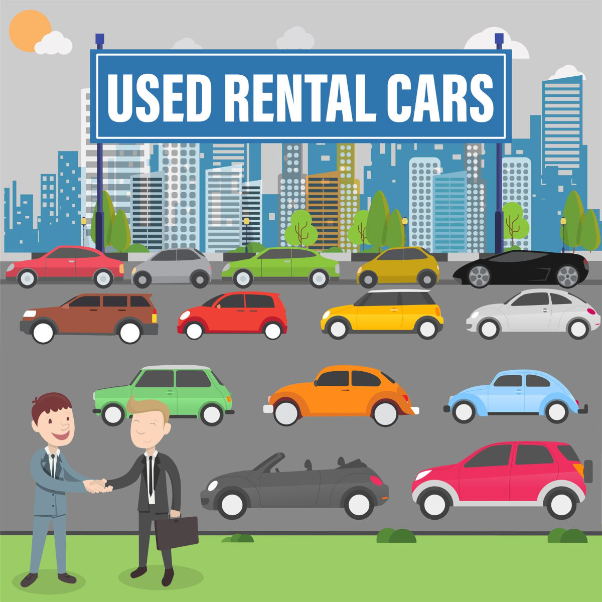 buy used rental car