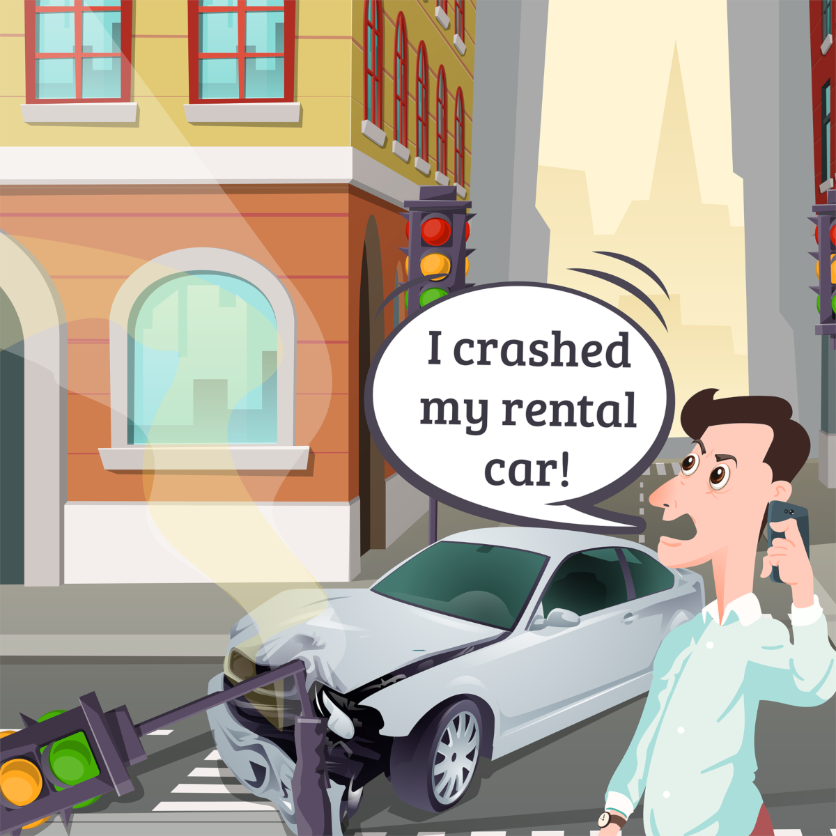 car rental crash