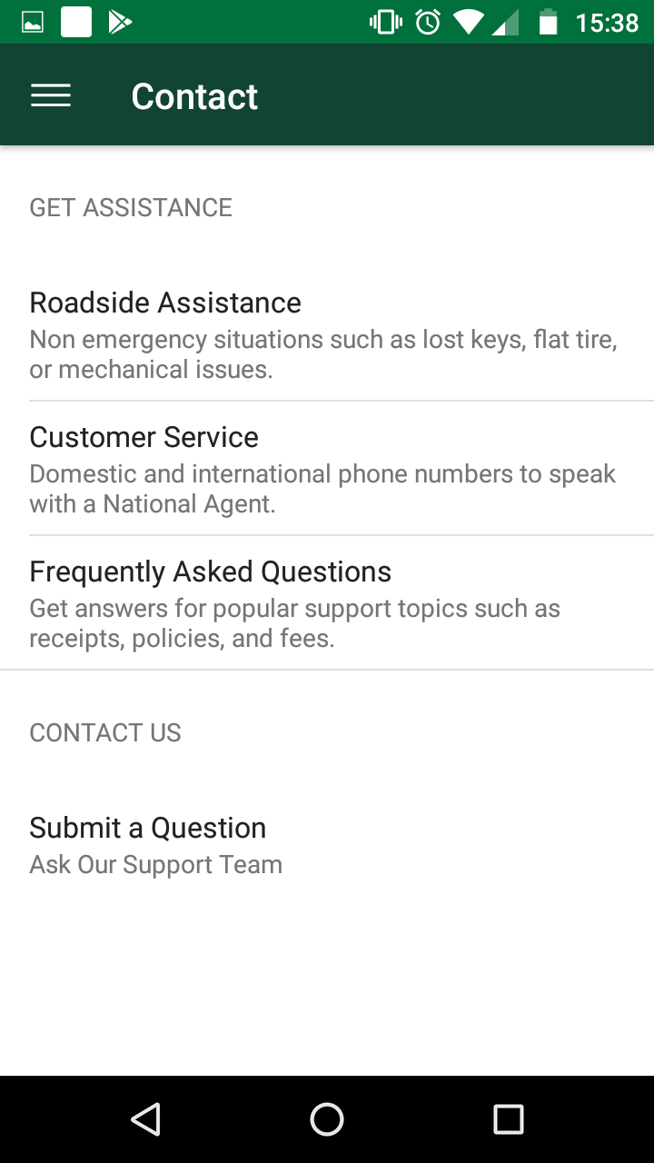 Review National Car Rental App Autoslash