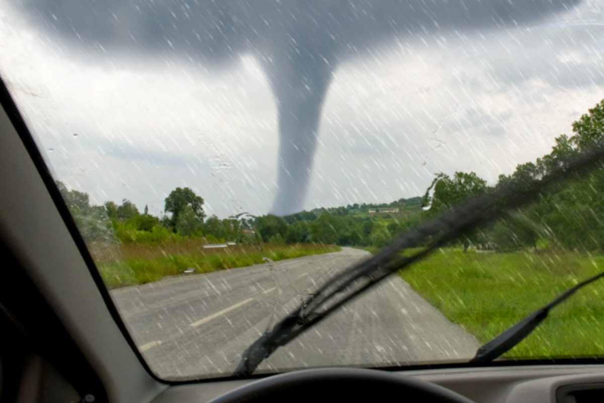 driving and see a tornado